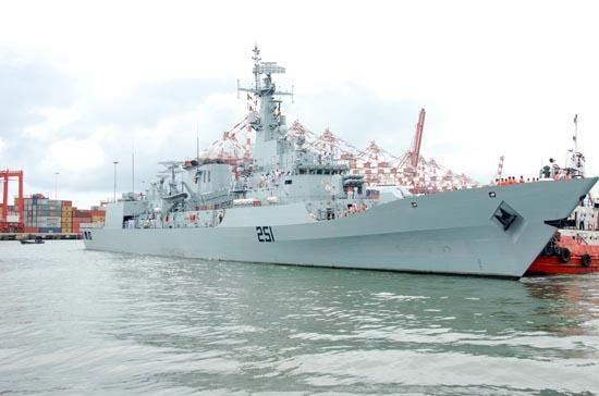 Pakistani naval ship PNS Zulfiquar.