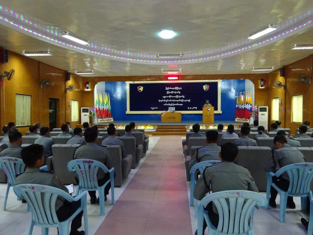 On-job training given to police officers to be able to discharge duty of rule of law and order.