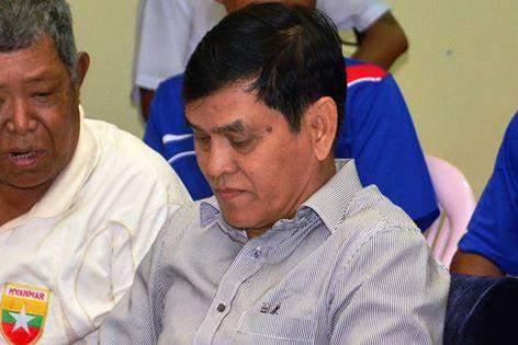 Chairman of Myanmar Referees Committee  U Tun Hla Aung.
