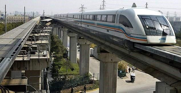Modern sky train in operation
