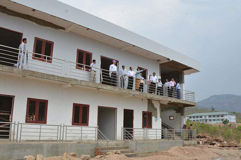 Photo shows completion of buildings for Fine Arts College (Nyaungshwe) in Shan State. MNA