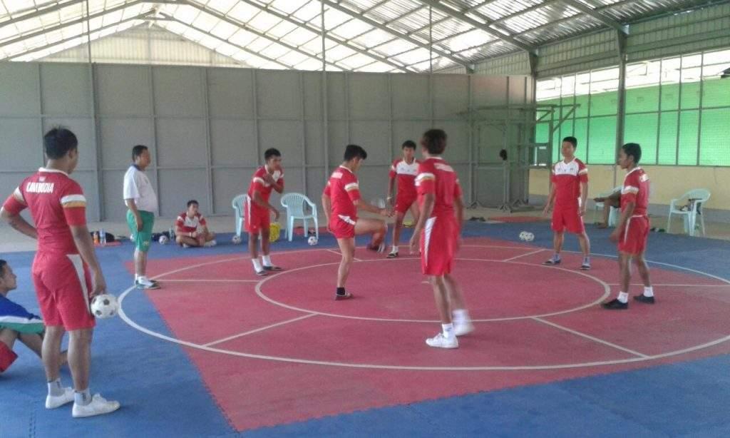 Cambodia Chinlone team At Pyin Oo Lwin