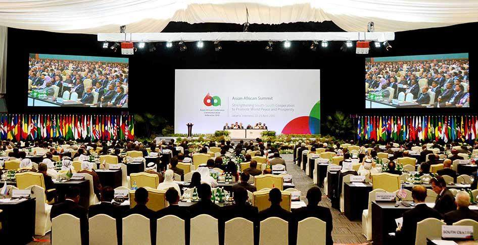 President U Thein Sein attends second-day plenary session of the 10th Asian African Summit.