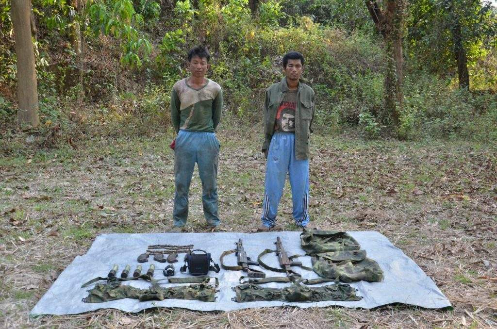 Two armd group members arrested with arms and ammunition.