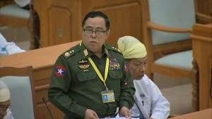 Union Defence Minister Lt-Gen Wai Lwin.