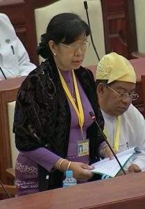 Deputy Minister for Health Dr Daw Thein Thein Htay.