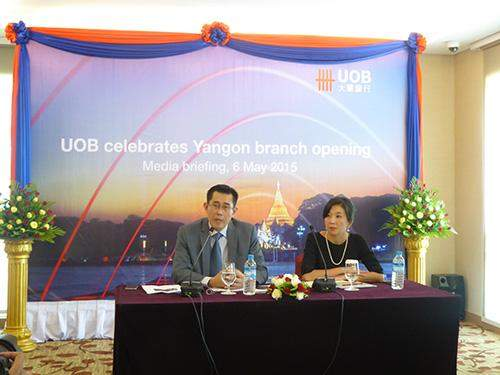 Mr Harry Loh, Executive Director and Country Manager for UOB Myanmarm speaks about functions of UOB.