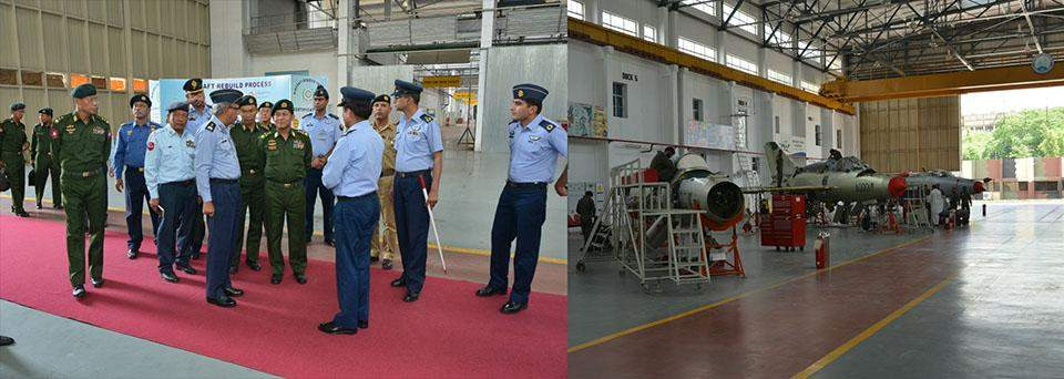 Commander-in-Chief of Defence Services Senior General Min Aung Hlaing visits the Pakistan Aeronautical Complex.