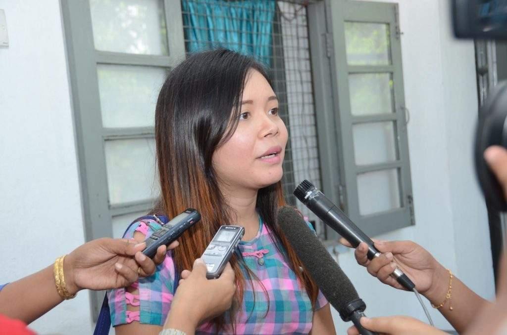 Ma Khin Wadi Oo at an interview. Zaw Min Latt