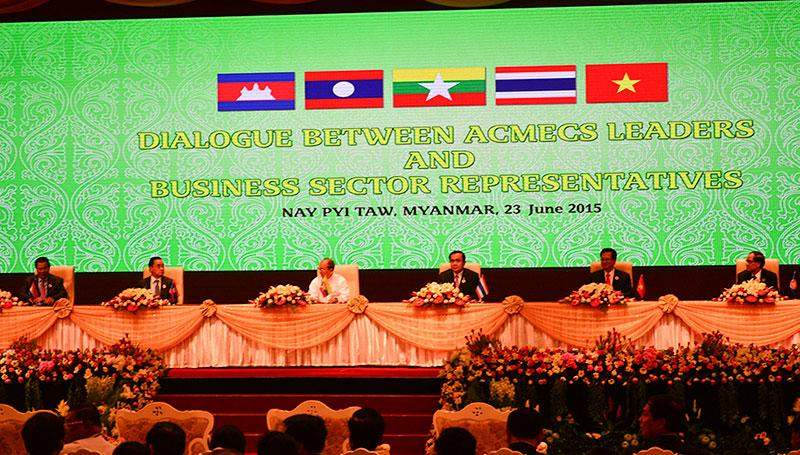 President U Thein Sein attends the Dialogue between ACMECS Leaders and Business Sector Representatives. Photo: Aye Min Soe