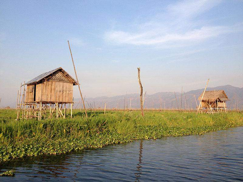 Residences of local people at Inlay Lake.—Photo: ©UNESCO