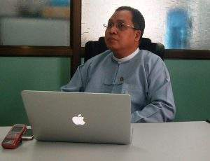 Special economic zone management committee chairman U Set Aung.