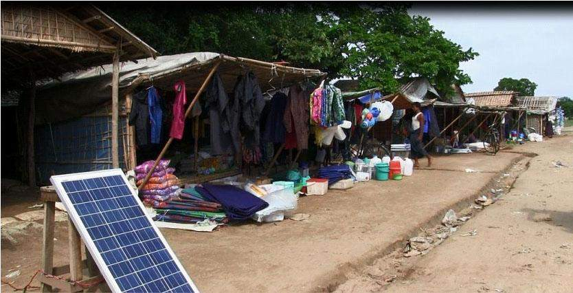 Relief items for Bengali camps are being sold at roadside shops in Darpaing (Bengali) Village in Sittway Township.—mna