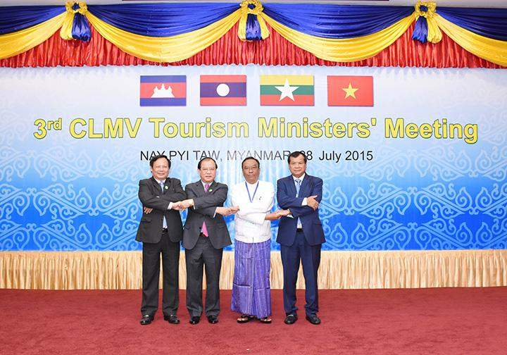 Ministers join hands at CLMV Tourism Ministers Meeting.