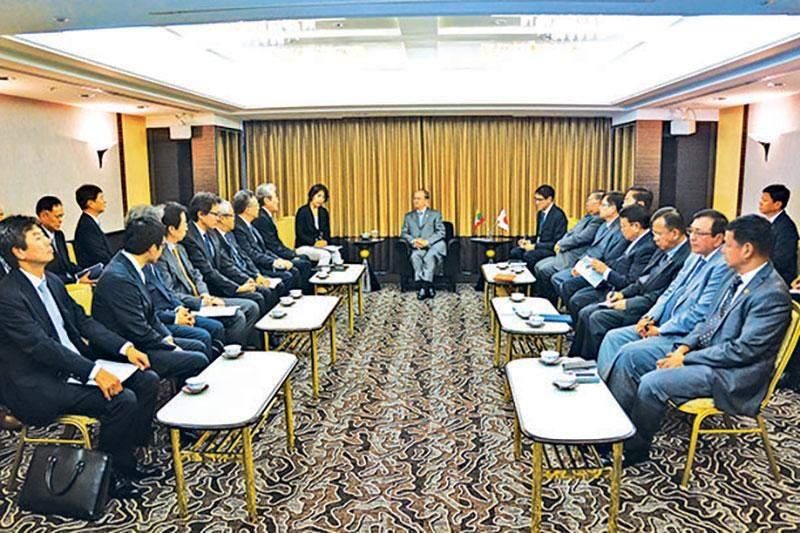 President U Thein Sein receives Chairman of Marubeni Company Mr Fumiyo Kokubu and party.