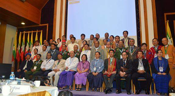 Negotiators from Union Peace-Making Working Committee and a senior delegation of ethnic armed organizations conclude talks in Yangon, adjourning until the first week of next month.
