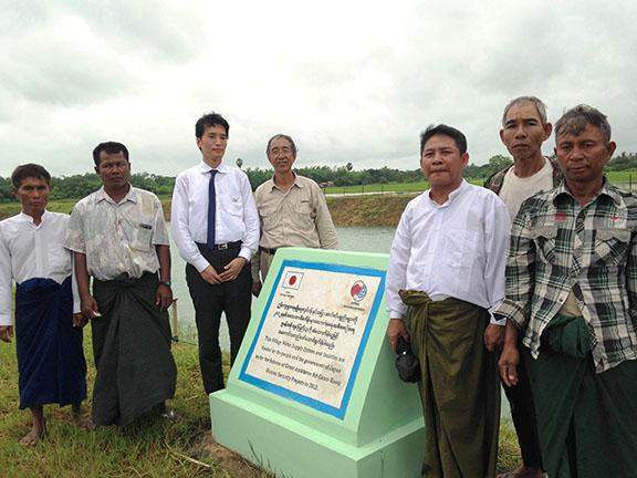 The villagers in Kyungale Village get benefits from water supply facilities  constructed under Grant Assistance for Grassroots Human Security  Projects (GGP) Scheme of the Japanese government.