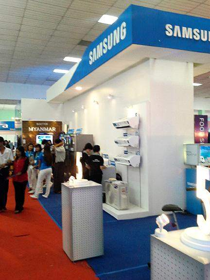 Samsung displayed its products at the last year's Korea Expo in December in Yangon.