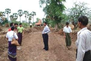 Officials of Rural Development Department inspect upgrading of road.