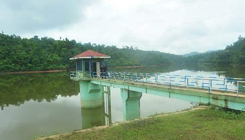 Photo shows storage of water at Humon Dam in Lashio.