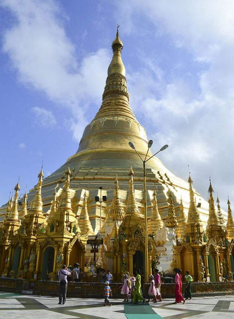 Myanmar's national landmark Shwedagon Pagoda is one of the key tourist attractions in the country. Photo: Aye Min Soe