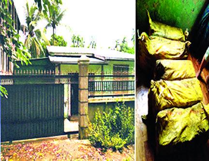 Narcotic drugs seized from KALADAN DELTA DEVELOPMENT Co.Ltd in North Dagon Township.