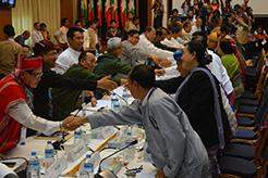 Negotiators from the government and a senior delegation of ethnic armed organizations conclude talks in Yangon, with a further round set to take place later this month in Nay Pyi Taw.