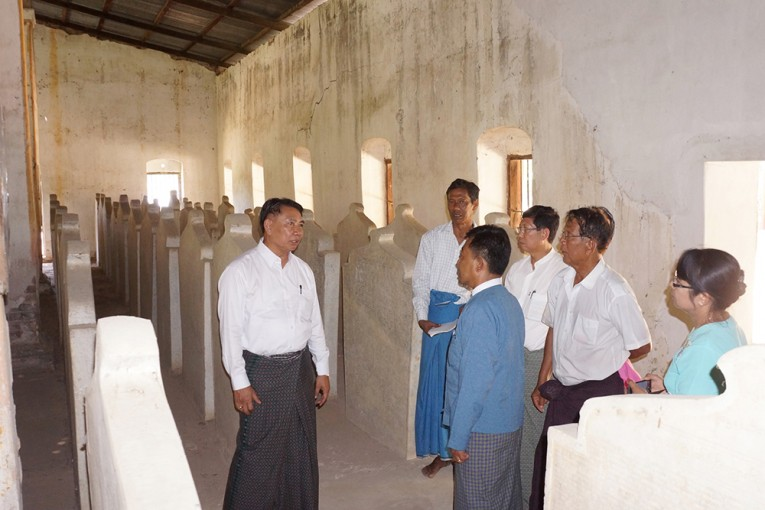 513 stone inscriptions on Buddha's teachings – known as Tri-Pitakat – are being preserved in Nyaungyan village, Thazi Township.—MNA