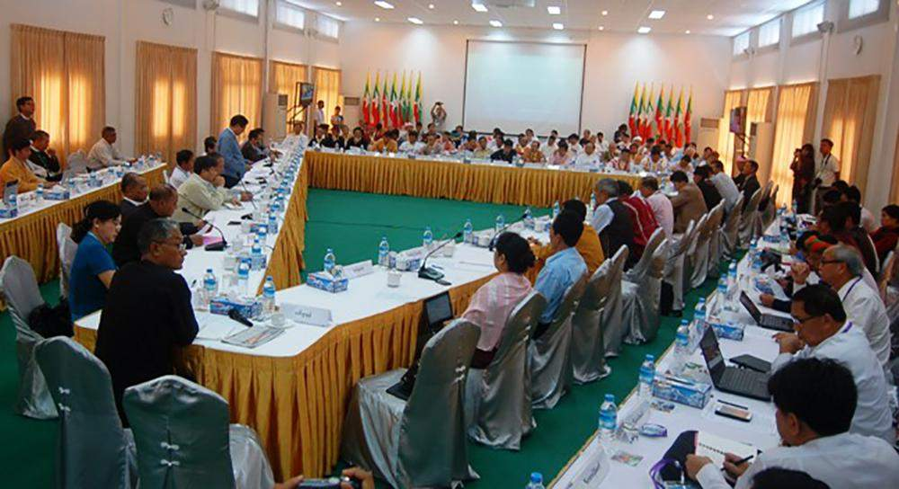 File photo of trilateral peace-talks at Myanmar Peace Centre in the last week of September, 2014.—Po Htaung