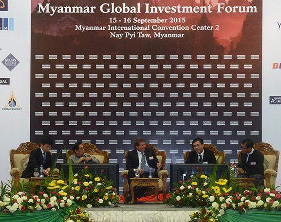 Myanmar Global Investment Forum in progress at Myanmar International Convention Centre-2 in Nay Pyi Taw.