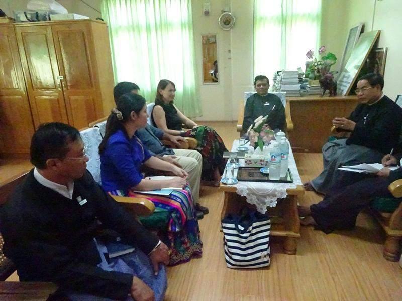 Mandalay Region Chief Justice holds talks with UNDP delegation. Photo: Thiha Ko Ko