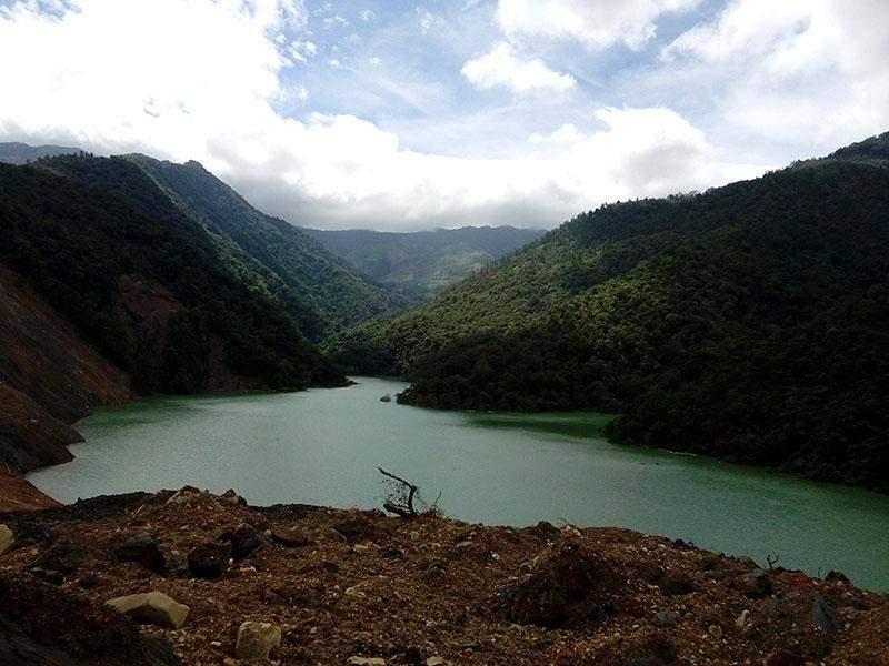 A landslide dam in Chin State. Photo: Su Hnin Lei