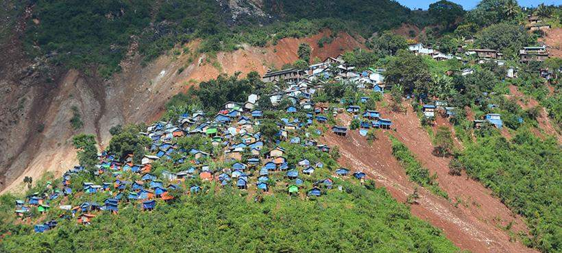 Aid from the government and donors has reached landslide-hit Mawchi.