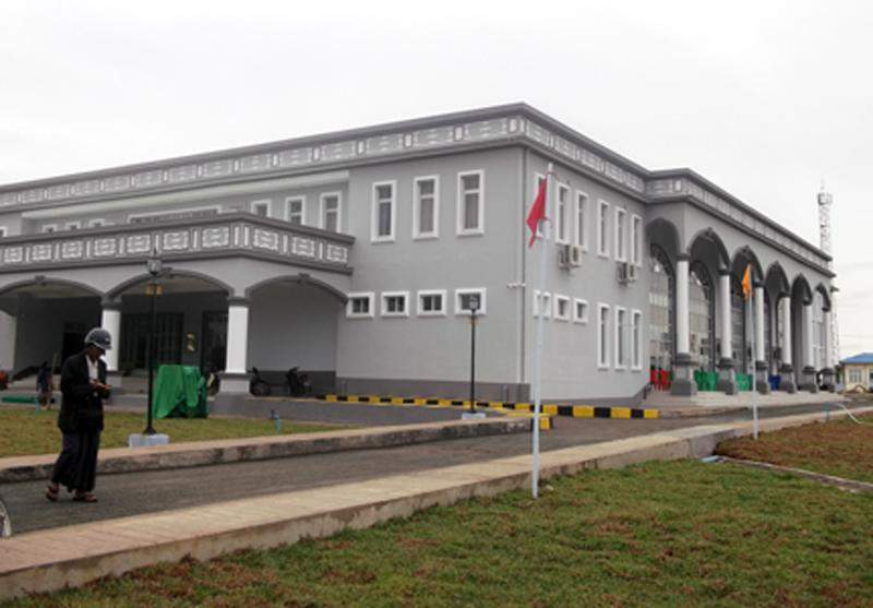The new town hall in Monyin can accommodate about 1000 people. Photo: GNLM-001