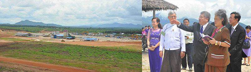 Thai Princess Maha Chakri Sirindhorn visits the site for Dawei Special Economic Zone project.