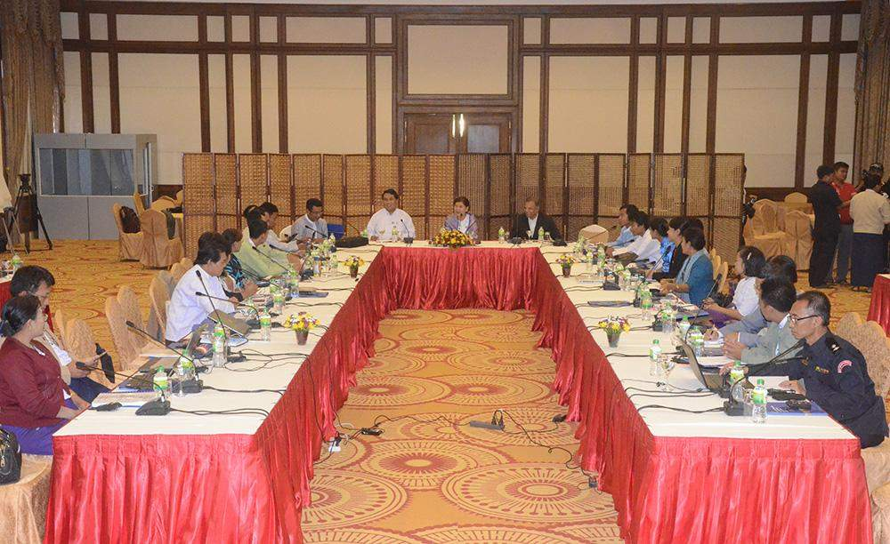 About 40 officials discussed the present climate change in Myanmar at Fifteenth Monsoon Forum. Photo:MNA