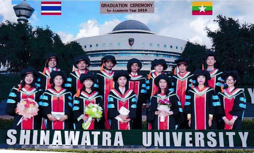 Graduates from Mandalay have already received MBA degree from  SIU International Bangkok. Photo: Tin Maung
