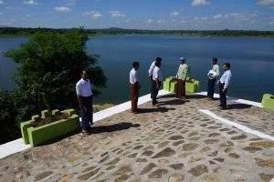 Local authorities inspect maintenance of Sintaewa Dam. Photo: U Zaw Min Naing