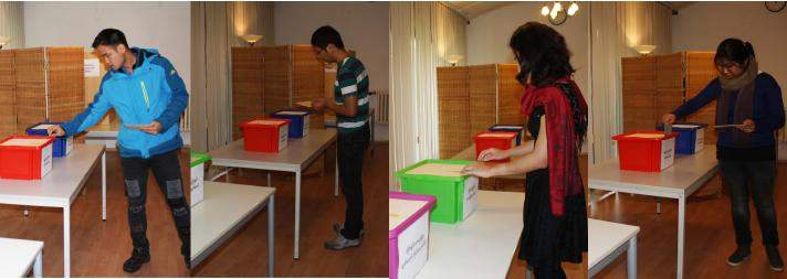 Myanmar citizens in Germany cast their votes at Myanmar embassy in Berlin. Photo:MNA