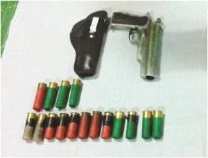 Fiber gun and bullets. Photo: Myint Oo (Myeik)