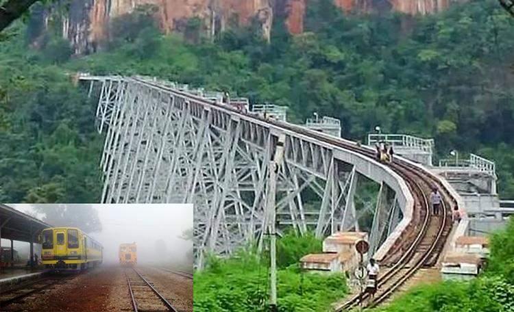 Gokteik Viaduct in northern Myanmar.
