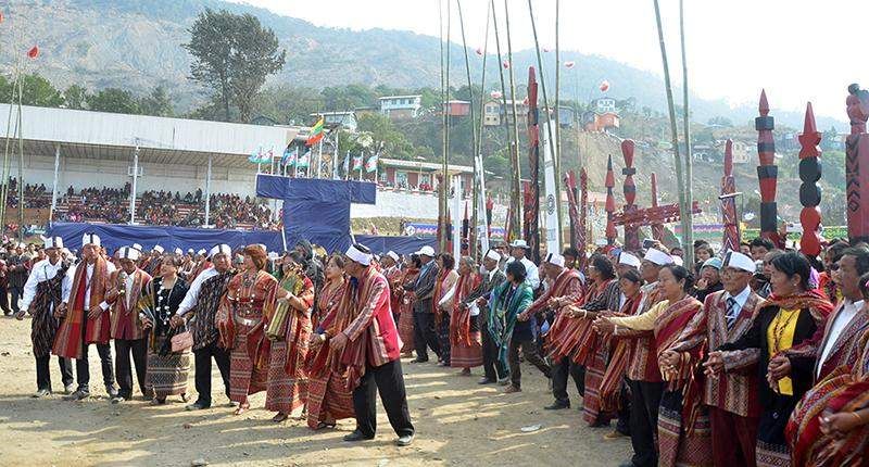 Chins celebrate 68th Chin National Day in Haka. Photo: MNA