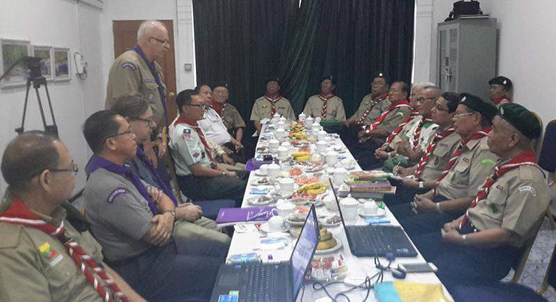 Scouts of Myanmar and Asia-Pacific Scout Commmittee are holding talks.
