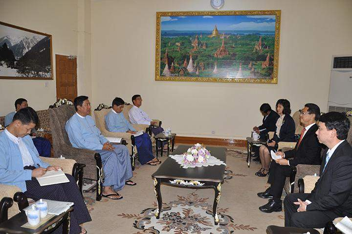 Delegation of Thailand-based Double A Public Co. holds talks with Union Minister U Maung Myint.