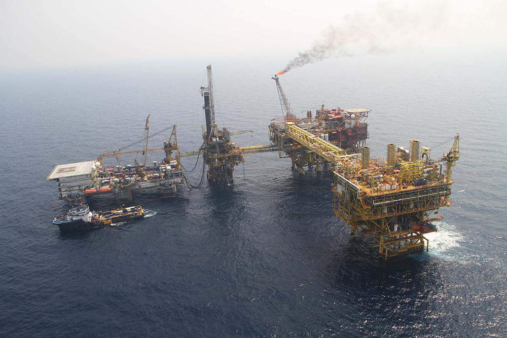 Yedagun offshore natural gas rig. Photo: Supplied by Ministry of Energy