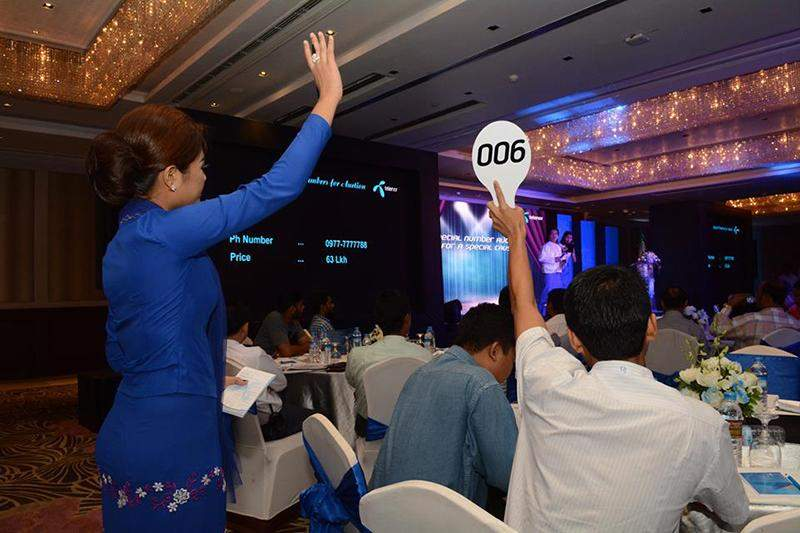Telephone numbers are auctioned by Telenor Myanmar. Photo: Telenor Facebook