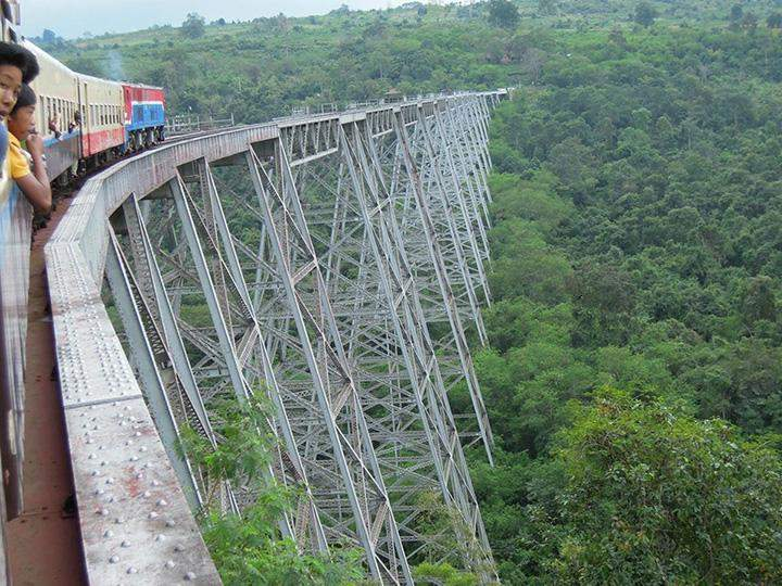 The Gokhteik viaduct is seen in Nawnghkio, northern Shan State. Photo: tripadvisor.com