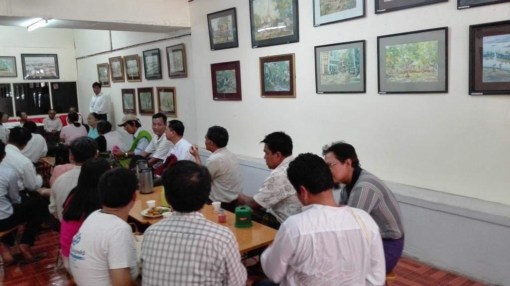 14th solo watercolour painting exhibition. Photo:Thiha Ko Ko