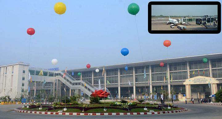 The newly-opened lounge of Yangon International Airport is seen on innaugural day.