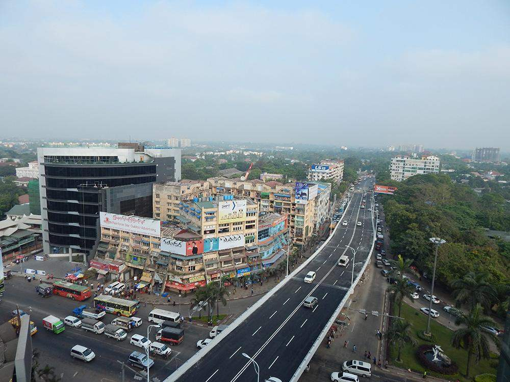 Bird's eye view of the 8 mile junction flyover. Photo: Tin Hla Maung